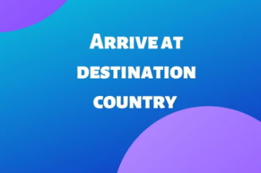 Arrive at destination country aliexpress