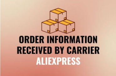 Order information received by carrier