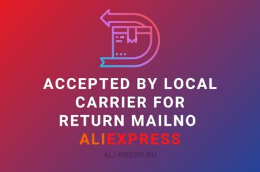 Accepted by local carrier for return mailno