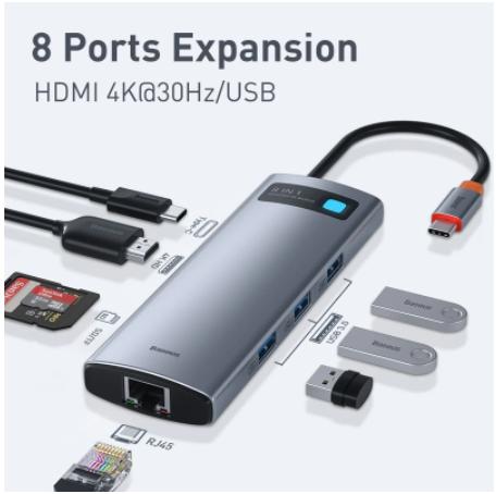 Baseus USB C концентратор Тип C